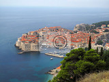 Fotografia view on the old town of dubrovnik croatia