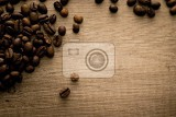 Fotografie Spilled coffee beans