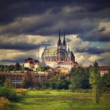 Fotografie petrov  st peters and paul church in brno city czech republic europe hdr  photo