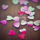 Fényképek st valentines day concept beautiful colorful abstract background with hearts