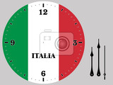 Fotografia Clock Face with theme of flag of Italy