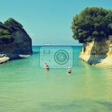 canal damour beach in sidari corfu island greece