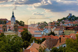 mikulov city and castle view from st sebastianos chapel svaty kopecek  mikulov south moravia czech republic