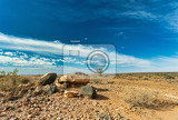 Photo interesting stones scenery in beautiful central namibia stone desert landscape traditional african scenery
