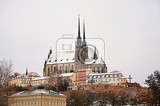 cathedral of saints peter and paul in brno old city in the czech republic in winter europe