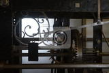 Fotografia old tower clock machine as very nice technology background