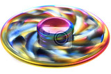 Fotografie color metal spinner toy isolated on the white background