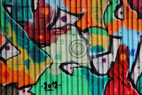 graffiti as nice color background street art