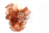 aragonite mineral isolated on the white background