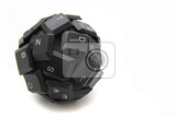 keyboard sphere  new input device isolated on the white background