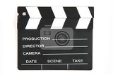 clapper board isolated on the white background