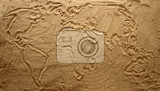 yellow sand texture world map as summer background