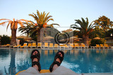 Fotografie relax in the greece hotel by the pool