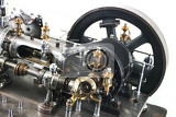 Fotografia steam engine isolated on the white background