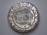 very old czech silver money named groschen