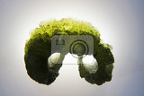 Photo moldavite mineral isolated on the white background