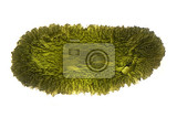 moldavite mineral isolated on the white background
