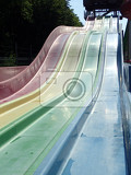 toboggan in water park as nice aquapark entertainment