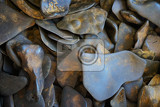 Photo limonite mineral texture as nice natural background