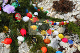 Fotografie color easter eggs czech tradition as holiday background