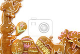 easter gingerbread cookies  czech tradition as nice holiday background