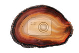 brown agate mineral isolated on the white background