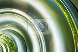 Fotografie chrome metal abstract texture with part of circle
