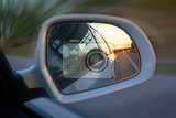 car mirror as very nice transportation background