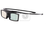 3d glasses isolated on the white background