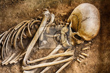 Fotografie human bones he is sleeping for ever