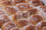 Fotografie typical czech cake with plum jam as nice food background