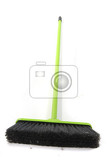 green dust brush isolated on the white background
