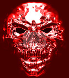 Fotografie abstract human skull as old death symbol