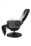 Photo black relaxation chair isolated on the white background