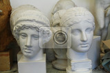 gypsum model heads for study art drawing