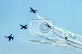 Photo airplanes on the blue sky very nice fly effect