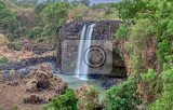 Fotografie view of blue nile falls waterfall on the blue nile river in dry season without water nature and travel africa ethiopia wilderness amhara region near bahir dar and lake tana