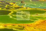 beautiful green color water in small sulfur lakes dallol ethiopia danakil depression is the hottest place on earth in terms of yearround average temperatures it is also one of the lowest places on the planet