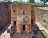 church of saint george rockhewn in the shape of a cross bete giyorgis one of eleven monolithic churches in lalibela part of the unesco world heritage site rockhewn churches the church was carved downwards from one monolitic stone of volcanic tuff