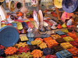 typical souvenirs  color ceramics from the tunisia