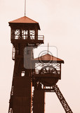 Photo old mine tower from the city of ostrava