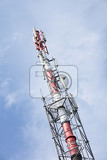 gsm tower on the blue sky background