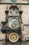 Photo old clock from the city of prague