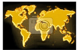 Fotografie golden map on the black generated by the computer