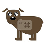 Photo kawaii illustration cute brown puppy of mutt isolated on white background