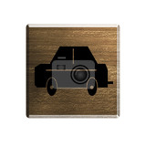 illustration hotel notice board with car silhouette parking available