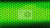 illustration abstract background consisting of black hexagons on a green background with a lighter center