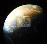 Photo earth in the dark night as nice background