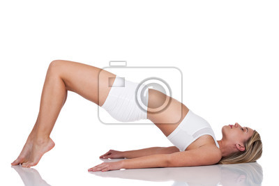 Fitness series - Young woman exercising