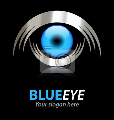 Blue eye vector logo